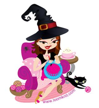 Loom Knit Girl Halloween
