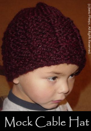 Mock Cable Hat