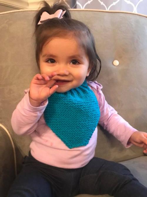Bandana Bib Loom Knitted